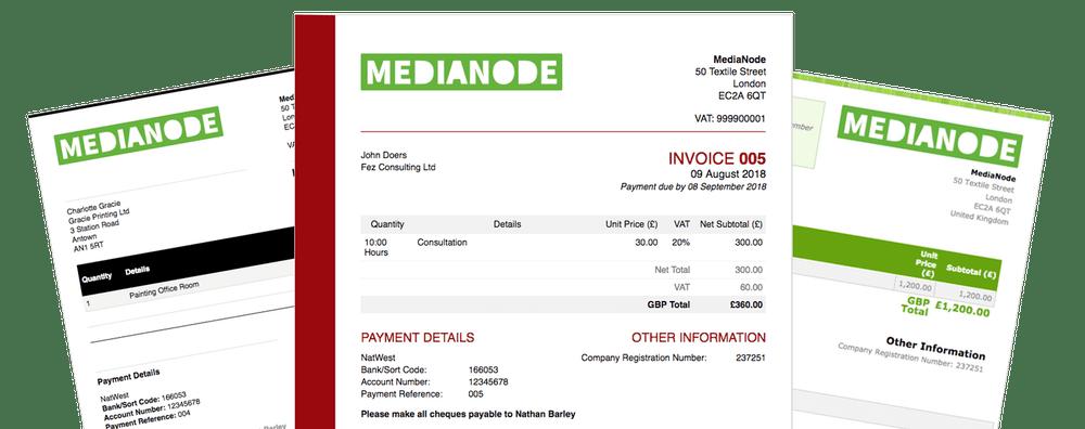 Freelance invoice example