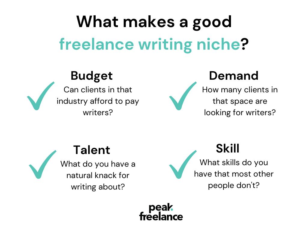 what makes a good freelance niche