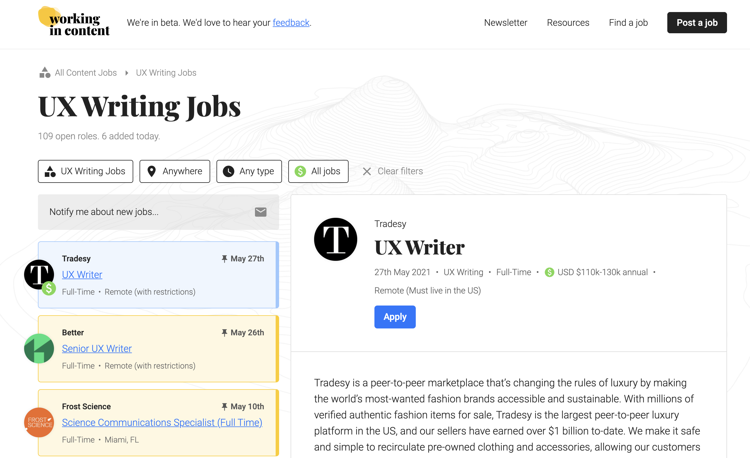 freelance writing niches - ux writer